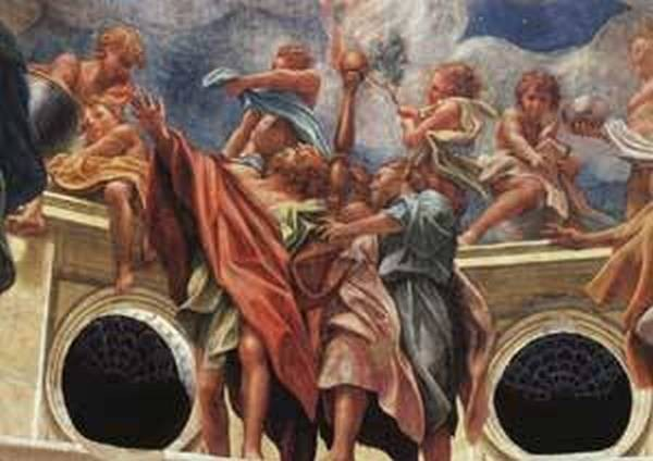 Assumption of the virgin detail of the apostles 1526 30 xx fresco dome of the parma cathedral